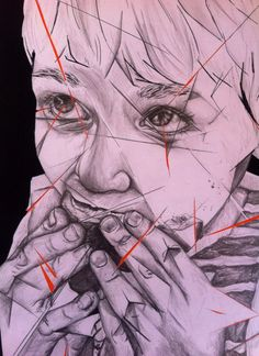 Portrait of Child, using pencil