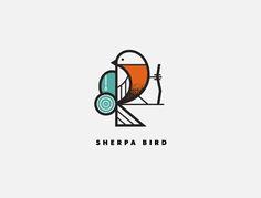 Creative Logos, Sherpa, Bird, Logo, and Fletcher image ideas & inspiration on Designspiration Typography Logo, Logo Branding, Logo Inspiration, Corporate Design, Bird Logos, Best Logo Design, Design Graphique, Rock Chic, Cool Logo