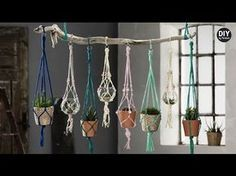 ▶ Free 10 knot Macrame Plant Hanger Project Instructions from MacrameForFun.com - YouTube