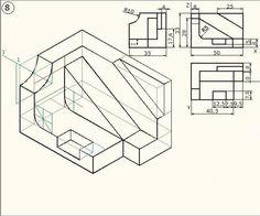 Ejercicio de perspectiva axonométrica isométrica.