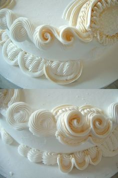 Overpiping/Lambeth style - Beautiful!  But the one I did took 5 hours to get the look.  Plan a day just to work on the cake!  Beautiful results in the end though!