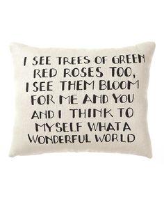 Wonderful World Pillow