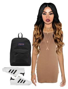 """""""Untitled #82"""" by california347 on Polyvore featuring adidas, Forever 21, JanSport and Lime Crime"""