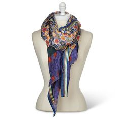 Gorgeous colors. I found the Garden Party Scarf at http://www.arhausjewels.com/product/fa183/womens-scarves. $78.00 #arhausjewels #womens-scarves.