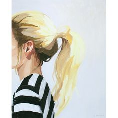 "8x10"" hair print - ""Ponytail 4"" by ElizabethMayville on Etsy https://www.etsy.com/ca/listing/214958962/8x10-hair-print-ponytail-4"