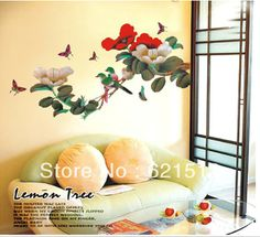 This site has the cutest wall stickers!  Aliexpress.com