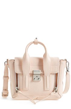 Such a pretty pale peach leather satchel | 3.1 Phillip Lim