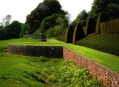 Garden, Hinton Ampner House, ha ha