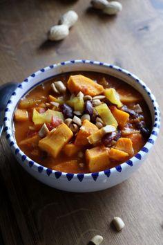 Afrikanischer Eintopf, Afrikanischer Erdnusseintopf, Erdnusseintopf, Erdnusssuppe, vegan, vegetarisch