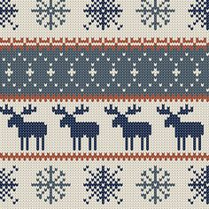 Woodland Moose Fabric - Moose || Christmas Sweater By Littlearrowdesign - Holiday Moose Cotton Fabric By The Yard With Spoonflower