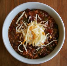 This spicy chicken chili seriously hits the spot.