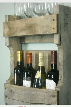 DIY Wine Rack. I have several bottles acquired. :)