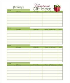 christmas list Printable Christmas Gift Idea Planners (includes family, relatives, family and stocking stuffer ideas) Family Christmas, Christmas Holidays, Christmas Gifts, Christmas Ideas, Christmas Budget, Christmas Goodies, Christmas 2017, Christmas Shopping, Christmas Wish List Template