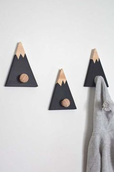 Wall Hooks for Kids Mountain Wall Hook Mountain Peak Coat Hook Adventure Nursery Decor Woodland Nursery Decor Mountain Nursery Decor Baby Boy Rooms, Baby Boy Nurseries, Baby Room Ideas For Boys, Boy Nursery Themes, Nursery Boy, Animal Nursery, Nursery Ideas, Mountain Nursery, Adventure Nursery