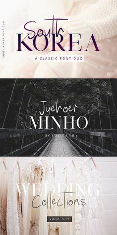 "The South Korea font duo is a stunning and cohesive font set that is suitable for nearly any type of project. With a combination of classic serif and handwritten sans serif that look stunning when paired or separate, the South Korea font duo will have you saying ""Gamsahamnida!"" #southkorea #font #scriptfont #handwritten #seriffont #fontduo #weddingfont #afflink"