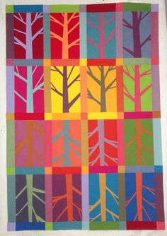 Seeing The Forest For The Trees by M-R Charbonneau | in-progress photo | Quilt Matters