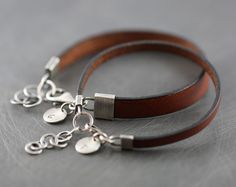 His and hers bracelet matching couple by SylviaArtGallery on Etsy