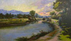 The Jordan River, Utah, Lorus Pratt, 1909