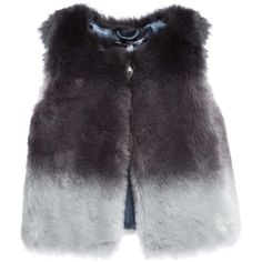 Little Marc Jacobs Girls Grey Synthetic Fur Sleeveless Jacket ($155) ❤ liked on Polyvore featuring jackets