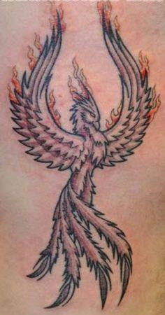 Male phoenix tattoo