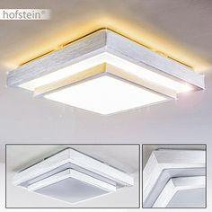 LED Deckenleuchte Sora 24 Watt Aus Metall Stahl Gebürstet, Eckige  1 Flammige Zimmerlampe Für