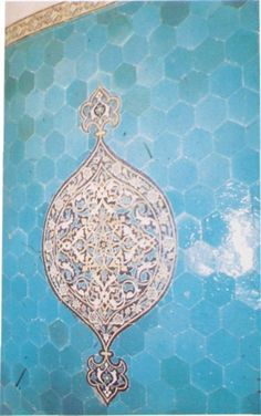 Fig. 5: Bursa, intérieur du Turbé Vert. Détail de la décoration des murs.