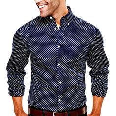 jcp™ Printed Polka Dot Shirt - jcpenney    #menswear #pittsburgh #deal
