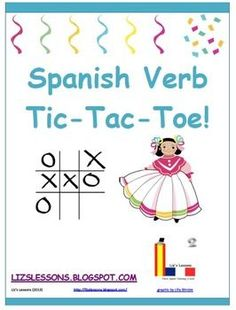 Looking for a fun way to get your students to practice conjugating verbs? Try verb tic-tac-toe! Students conjugate verbs instead of using X'...