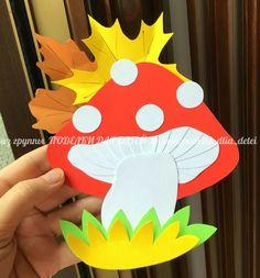 Autumn Crafts, Halloween Crafts For Kids, Paper Crafts For Kids, Spring Crafts, Diy For Kids, Diy Paper, Fall Classroom Decorations, Mushroom Crafts, Paper Flower Tutorial