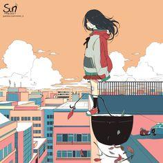 The Background of Anime Dark Art Illustrations, Illustration Art, Dibujos Dark, Sun Projects, Sad Drawings, Vent Art, Arte Obscura, Sad Pictures, Sad Art