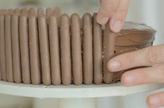 Learn how to make a chocolate fingers cake with our step-by-step picture recipe - this easy, simple recipe will be perfect for kids' birthdays. Chocolate Button Cake, Chocolate Finger Cake, Chocolate Buttons, Melting Chocolate, Nutella Spread, Chocolate Buttercream, Cake Tins, Delicious Chocolate, Cakes And More
