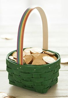 A Little Luck of the Irish with the Over the Rainbow Basket. #irish#stpatricksday#basket