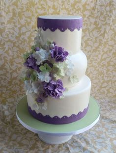 Lovely green and purple! By cake_whisperer on CakeCentral.com