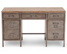 Reclaimed and ready to work–Brownstone Desk