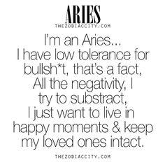 Zodiac Aries.