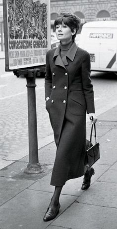 Another timeless coat on Audrey. Would work today. 1970.