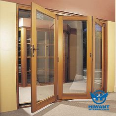 Aluminium alloy product—— Wood grain aluminium profile for folding windows and doors.