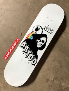 More info about this custom skateboard deck created by Californian tattoo artist Jon Sajonas can be found by clicking on the image. Custom Skateboard Decks, Painted Skateboard, Skateboard Deck Art, Skateboard Parts, Custom Skateboards, Custom Decks, Cool Skateboards, Skateboard Design, Skateboard Girl