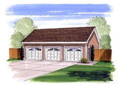 Garage Plan chp-50452 at COOLhouseplans.com