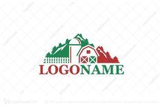 Logo for sale: Peak Farm Logo by SimplePixel, uploaded on Logo design of a barn and silo in front of a mountain. Farm Logo, Mountain Landscape, Logo Design, Mountains, Logos, Logo, Bergen