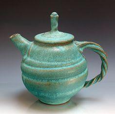 Ron Mello, pottery tea pot