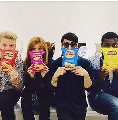 Pentatonix being adorable  and mitch's cool shades