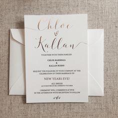 Rose Gold Foil Invitation