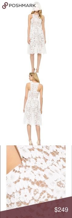 White lace floaty midi dress White lace midi dress. By ministry of style. Purchased from Shopbop worn once for my rehearsal dinner. ministry of style Dresses Midi