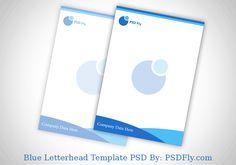 Blue Letterhead Template PSD Professional
