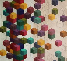 Verbeek designs from Eindhoven in the Netherlands has launched a new series of colourful geometric prints for the Home industries,a combination of a painted background and digital printing, also ba...