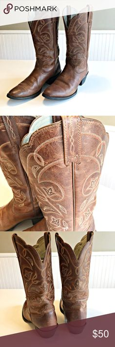 Ariat Heritage Western Cowgirl Boots 8.5B Brown
