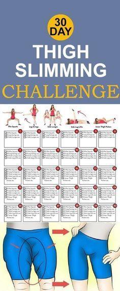 30 Day Thigh Slimming Challenge