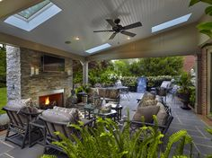 patio cover with skylights