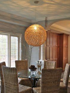 DIY Pendant light – living room - All For Decoration Diy Pendant Light, Cheap Pendant Lights, Pendant Lighting, Pendant Lamp, Orb Light, Diy Light Fixtures, Diy Chandelier, Round Chandelier, Chandeliers